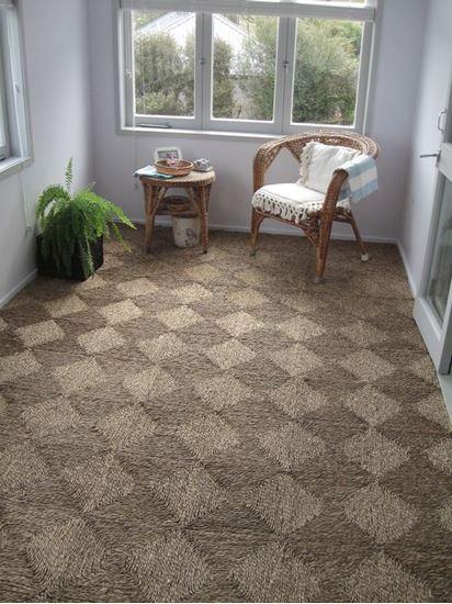 thảm cói vuông - seagrass carpet